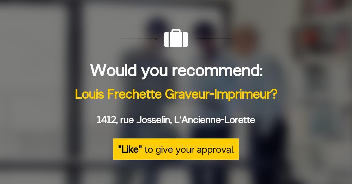 Louis Frechette graveur