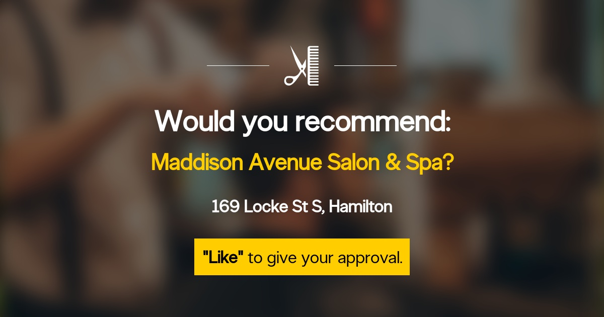 Maddison avenue salon amp spa opening hours 169 locke st s hamilton