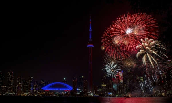 Where to watch the fireworks on Canada Day in Toronto