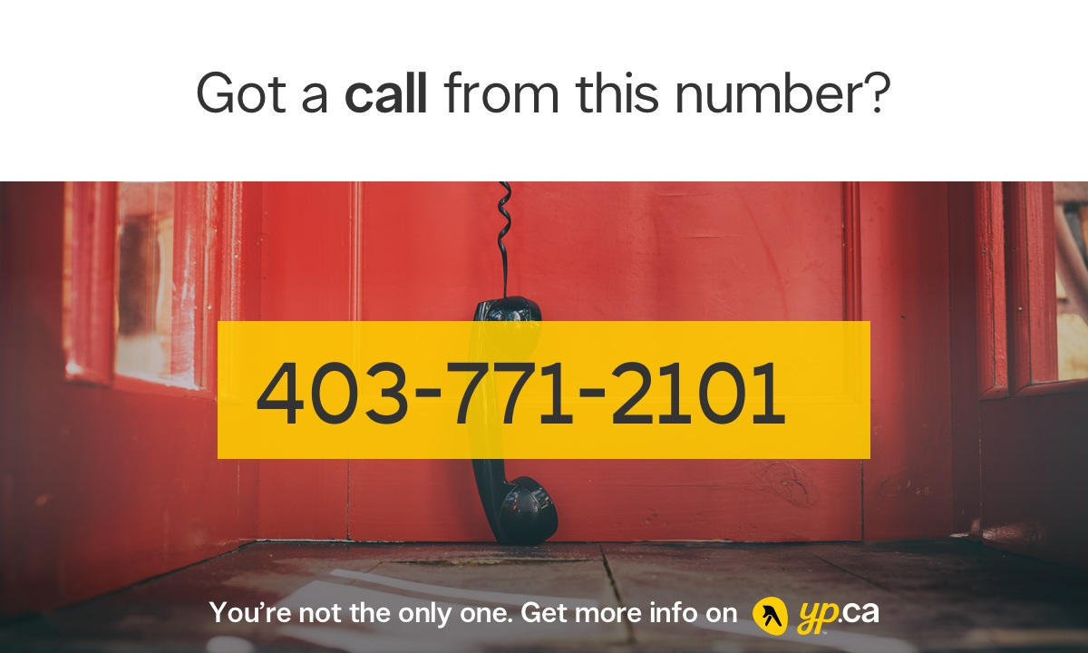 403 771 2101 14037712101 who called from calgary yp ca