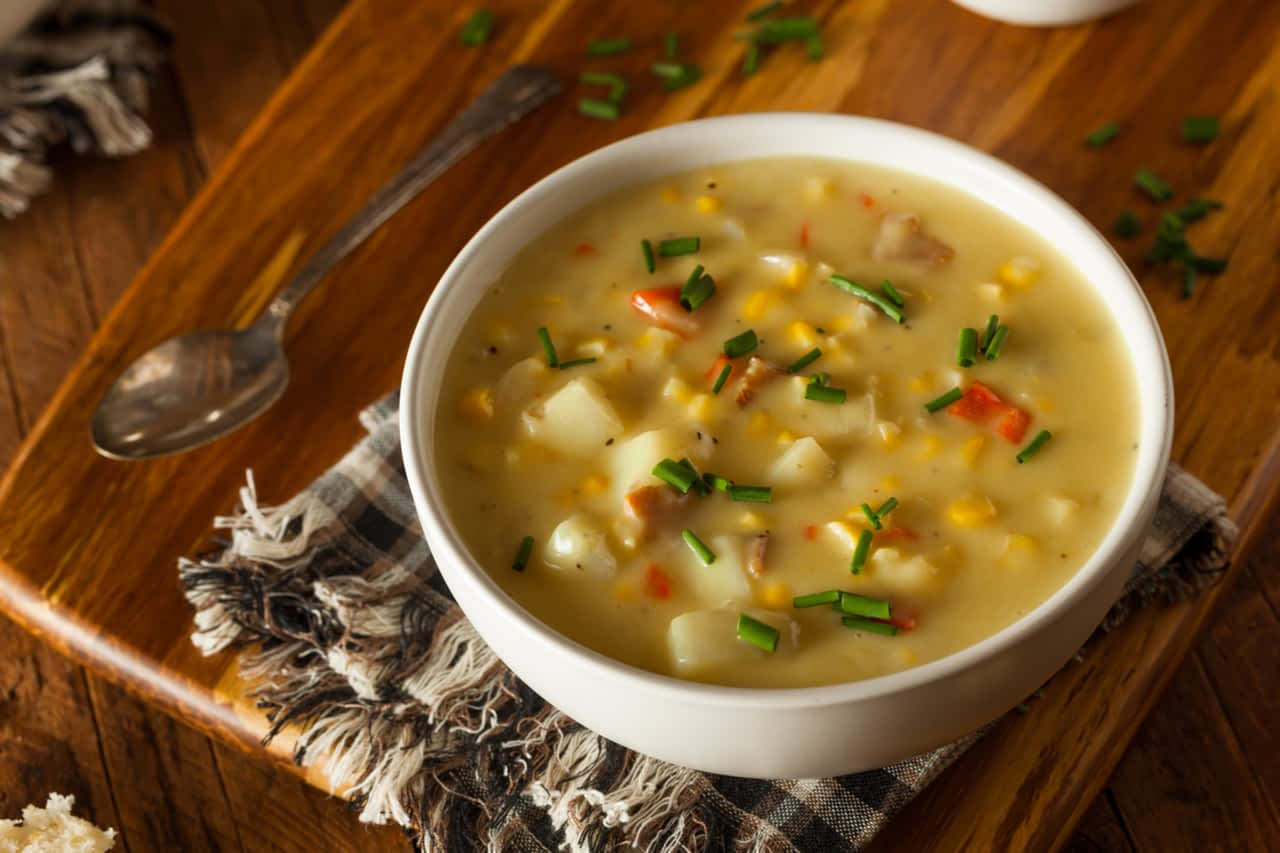 9. Meal-in-a-bowl corn and potato chowder