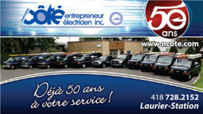 Electricien Normand Côté - Entrepreneurs en chauffage - 418-728-2152