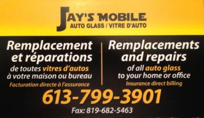 Jay's Mobile Autoglass Inc - Pare-brises et vitres d'autos - 613-799-3901