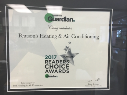 Peatson's Heating & Air Conditioning Ltd - Heating Contractors