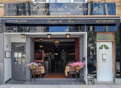 Campo De Fiori Ristorante - Italian Restaurants - 647-496-5603