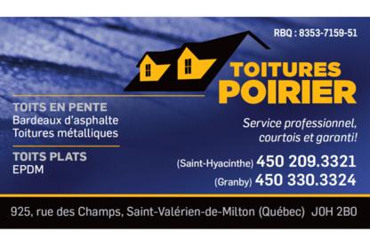 Toitures Poirier - Couvreurs - 450-209-3321