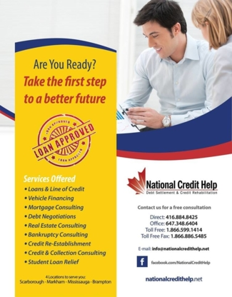 National Credit Help - Credit & Debt Counselling - 1-866-599-1414