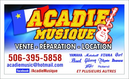 Acadie Musique - Musical Instrument Stores - 506-395-5858