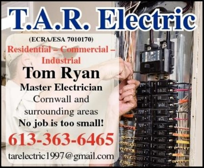 T.A.R. Electric - Électriciens - 613-363-6465