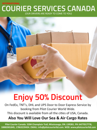 Courier Service near Heartland Town Centre Mississauga ON