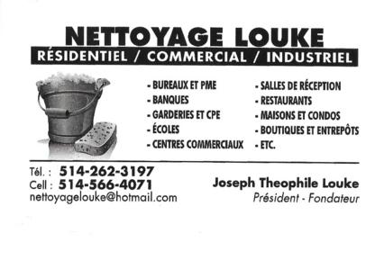 Nettoyage Louke - Nettoyage résidentiel, commercial et industriel - 514-262-3197