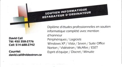 David Call Informatique Service A Domicile - Computer Repair & Cleaning - 450-358-2776