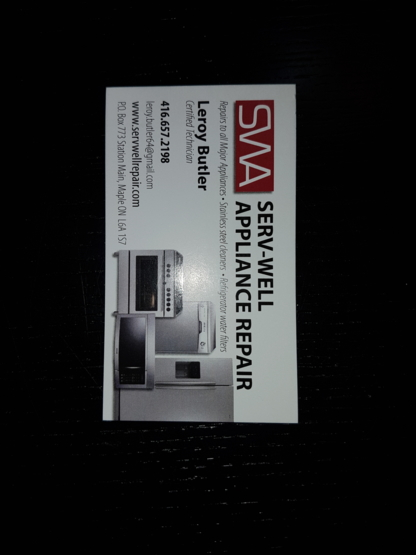 Serv-Well - Appliance Repair & Service - 416-657-2198