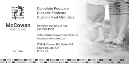 McCowan Foot Clinic - Foot Care - 416-299-1508