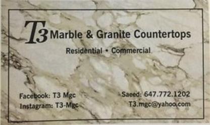 T3 Marbel & Granite Countertop - Counter Tops - 647-772-1202