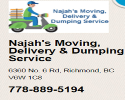 Najah's Moving, Delivery & Dumping Service - Moving Services & Storage Facilities