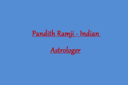 Pandith Ramji - Indian Astrologer - Astrologues et parapsychologues