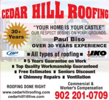 Cedar Hill Roofing - Building Contractors - 902-569-4795