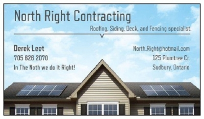 North Right Contracting - Building Contractors - 705-626-2070