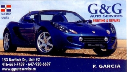 G & G Auto Services - Car Repair & Service - 647-920-6697