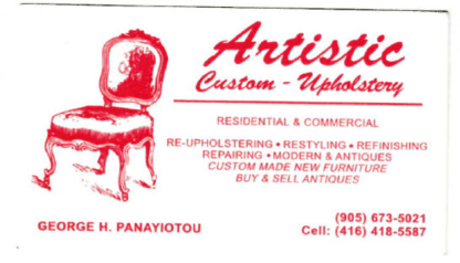 View Artistic Custom Upholstery Residential & Commercial's Mississauga profile