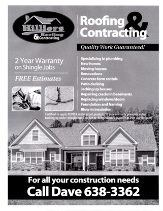 Hilliers Roofing & Contracting - Couvreurs