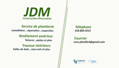View Construction Rénovation JDM & Plomberie JDM Inc's Saint-Étienne-de-Lauzon profile
