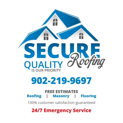 Secure Roofing - Couvreurs - 902-219-9697