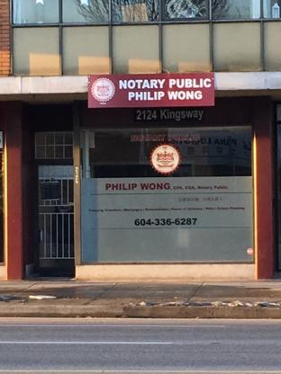 Philip Wong Notary Corp