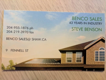 View Benco Sales's Winnipeg profile