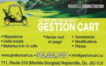Voiturette de Golf Gestion Cart - Golf Cars & Carts