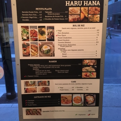 Restaurant Haru hana - Restaurants coréens - 514-903-5005