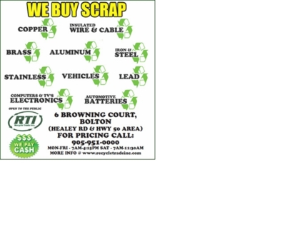 Recycle Trade - Scrap Metals - 905-951-0000