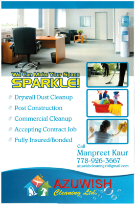 Azuwish Cleaning Ltd - Commercial, Industrial & Residential Cleaning