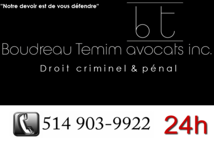 Boudreau Temim Avocats INC - Criminal Lawyers - 514-903-9922