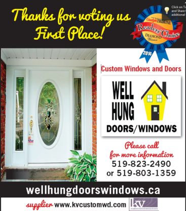 Well Hung Doors Windows - Windows - 519-803-1359