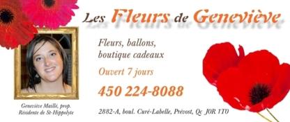 Les fleurs de Geneviève - Florists & Flower Shops - 450-224-8088