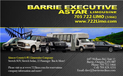 Barrie Executive Transportation And Limousine - Limousine Service - 705-722-5466