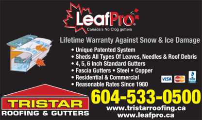 Tristar Roofing & Gutters - Eavestroughing & Gutters