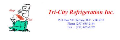 Tri-City Refrigeration Inc - Commercial Refrigeration Sales & Services - 250-635-2144