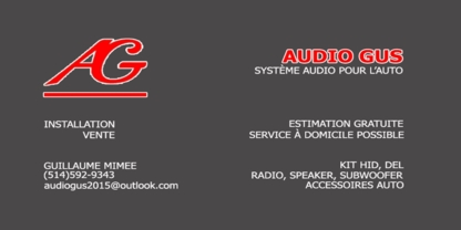 AudioGus - Car Radios & Stereo Systems - 514-592-9343