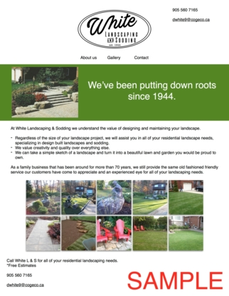 View White's Landscaping and Sodding's Ancaster profile