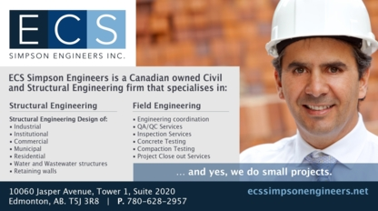 ECS Simpson Engineers Inc - Ingénieurs-conseils