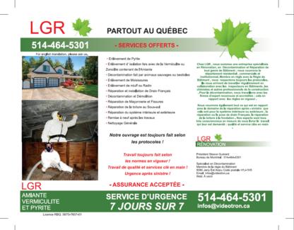 L G R - Asbestos Removal & Abatement