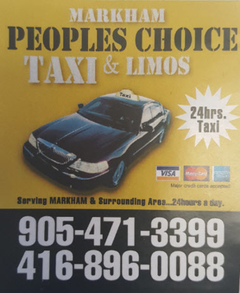 Markham Peoples Choice Taxi & Limo - Taxis - 905-471-3399