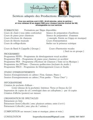 Studio PMD Montréal - Écoles et cours de chant - 438-397-3837