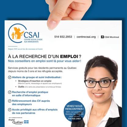 Centre Social D'Aide Aux Immigrants - Associations humanitaires et services sociaux - 514-932-2953