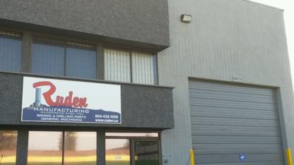 Ruden Mfg - Machine Shops - 604-432-1009
