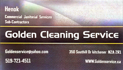 Golden Cleaning Service - Commercial, Industrial & Residential Cleaning - 519-721-4511