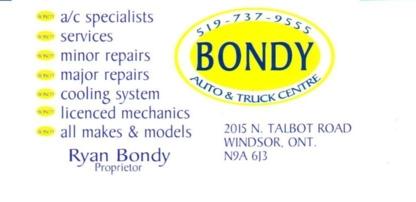 Bondy Auto & Truck Centre - 519-737-9555